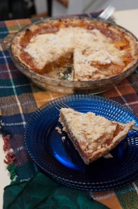 Peach Shortbread Pie. Photography by Diane and Doug Russell.