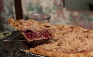 Homemade Cherry Crumb Pie