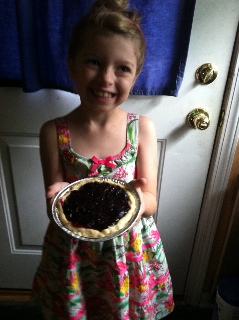 Emma with her little Blueberry Pie