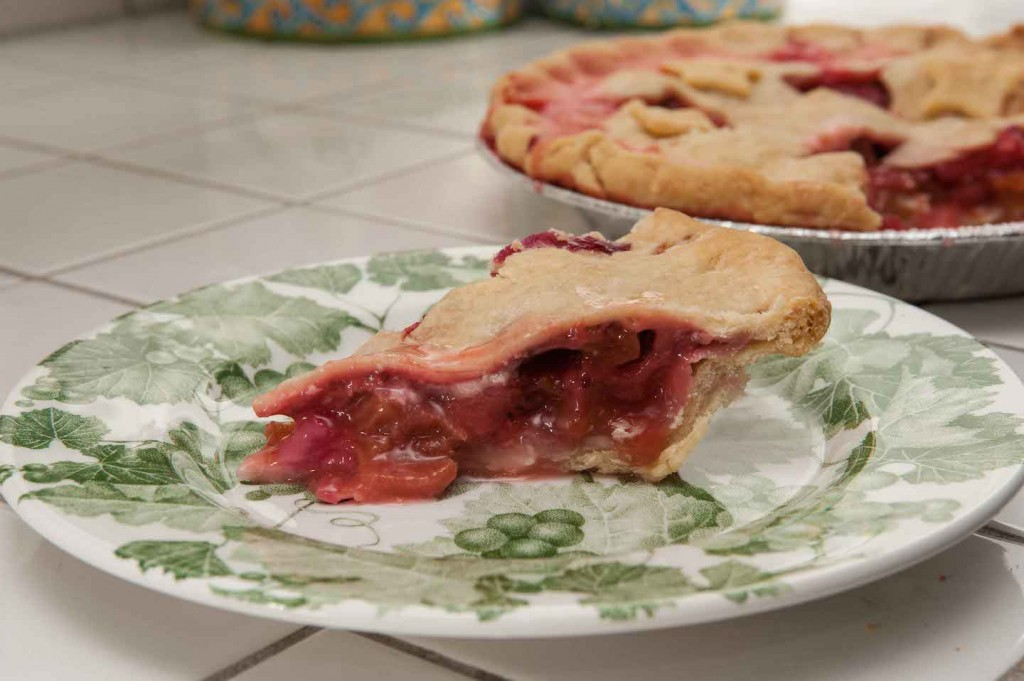 Strawberry Rhubarb Pie, Photo by Diane & Doug Russell