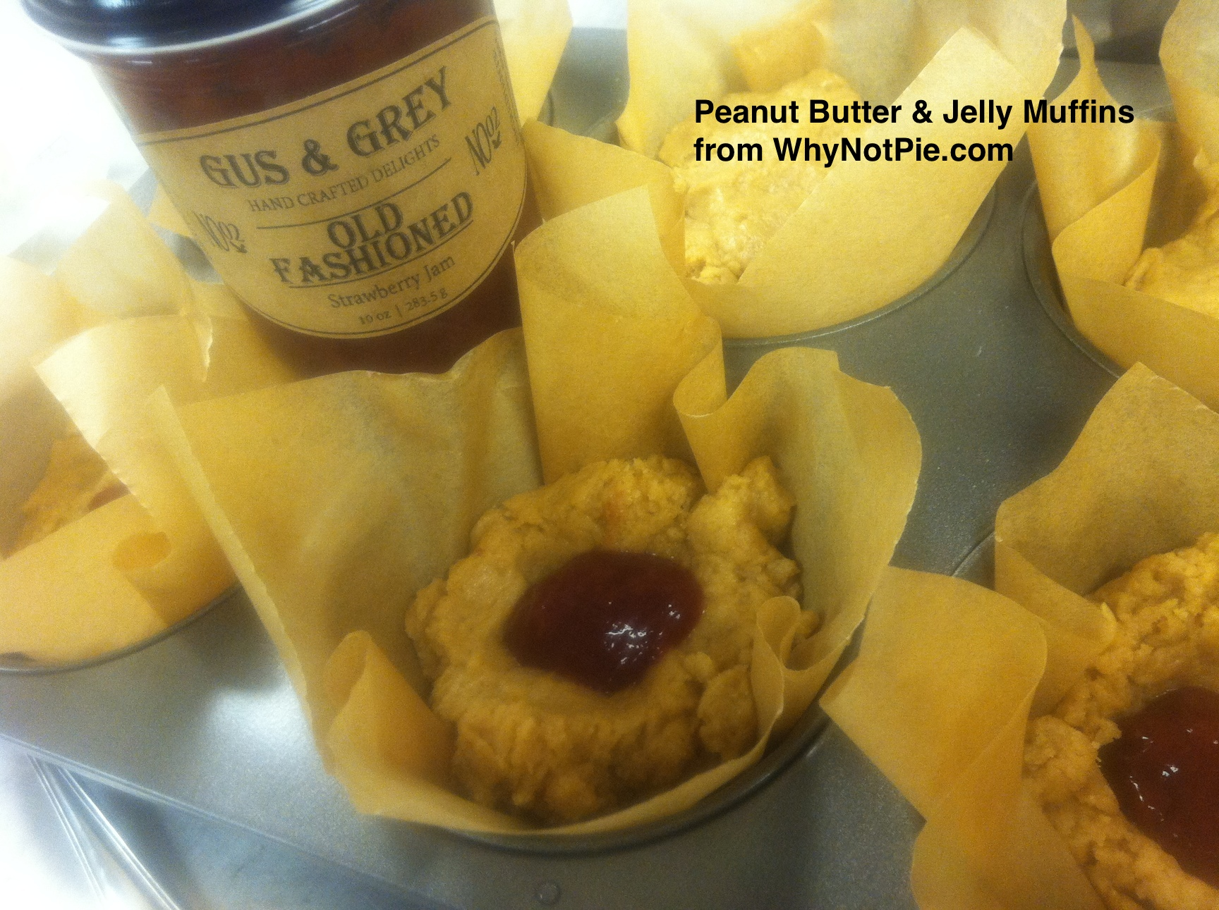 PB & J Muffins with Gus & Grey Strawberry Jam